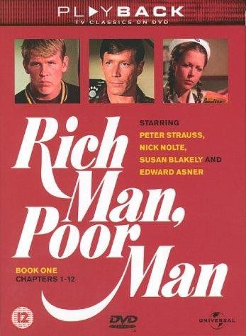 Miniseries,  spans 1945 through 1960s and follows the divergent career courses of the impoverished German immigrant Jordache brothers. Rudy (Peter Strauss) is the rich man of the title, a well-educated and very ambitious entrepreneur who triumphed over his background and constructed a corporate and political empire. Poor man Tom (Nick Nolte) is a rebel who eventually turned to boxing to support himself.