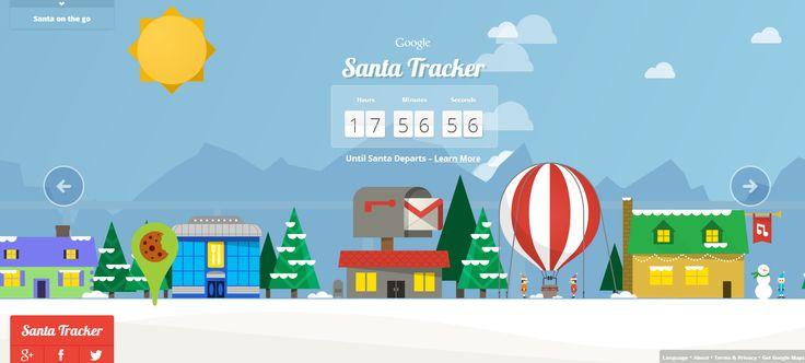 Google libera aplicación para rastrear a Santa Claus:  Internet Site,  Website, Productos Presentados, Web Site, Producto Presentado, Presentados En