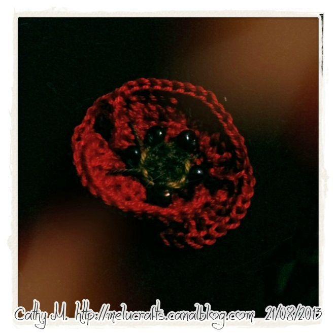 Coquelicot au crochet hook, poppy