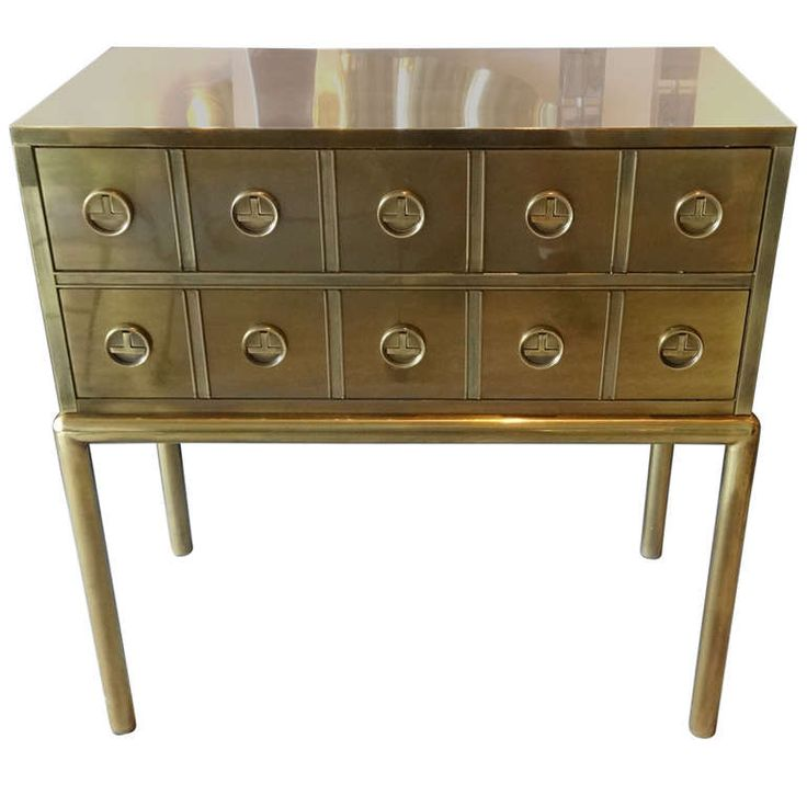 Mastercraft Furniture For Sale #28: View This Item And Discover Similar Commodes And Chests Of Drawers For Sale At - A Brass Cabinet By Mastercraft. Two Large Drawers.