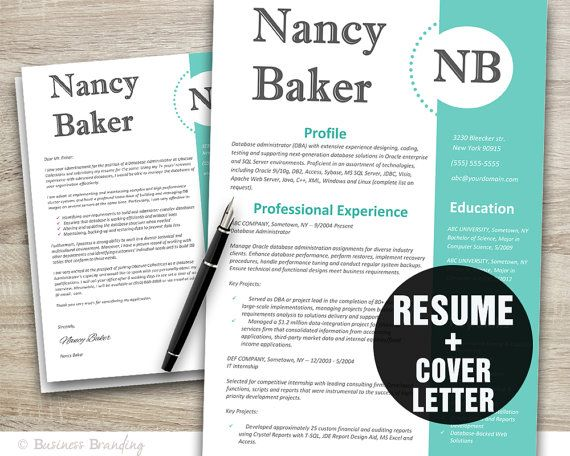 creative resume template resume cover letter by businessbranding 1500