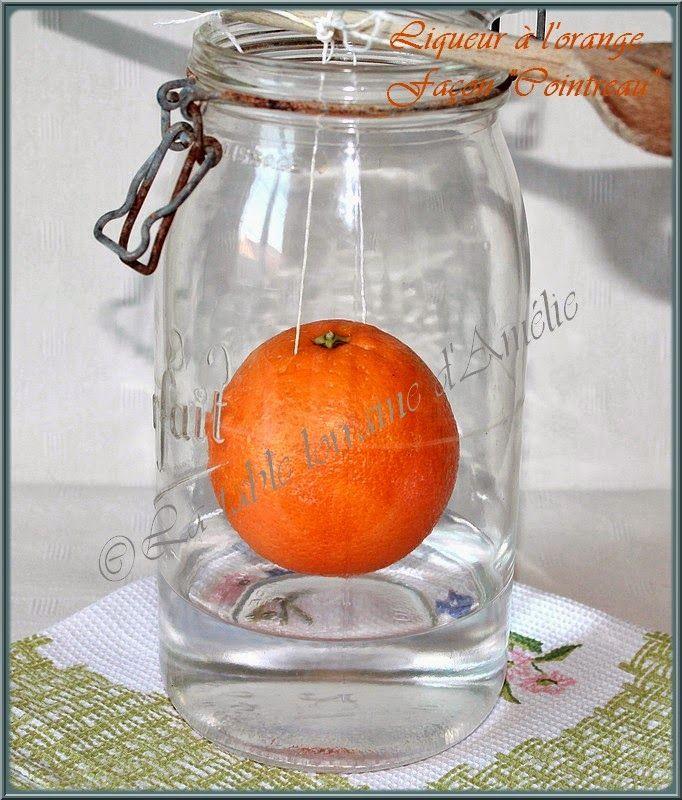 """Liqueur d'orange maison """"façon Cointreau"""" Ma maman faisait toujours ses liqueurs maison, Chartreuse, Prunelle, liqueur à la cerise..."""