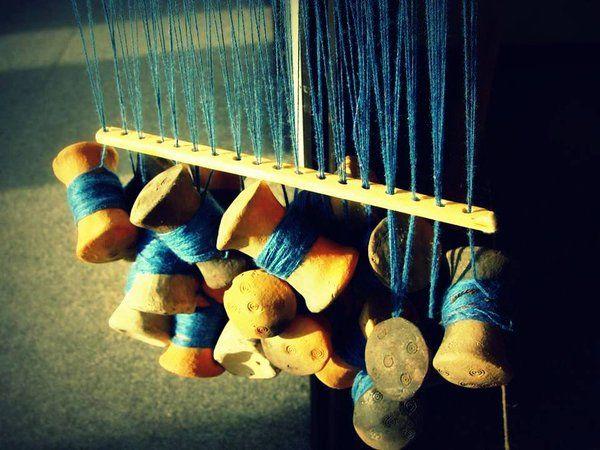 Officina Temporis - Tessitura a tavolette con rocchetti - tablet weaving with bobbins - villanovan way