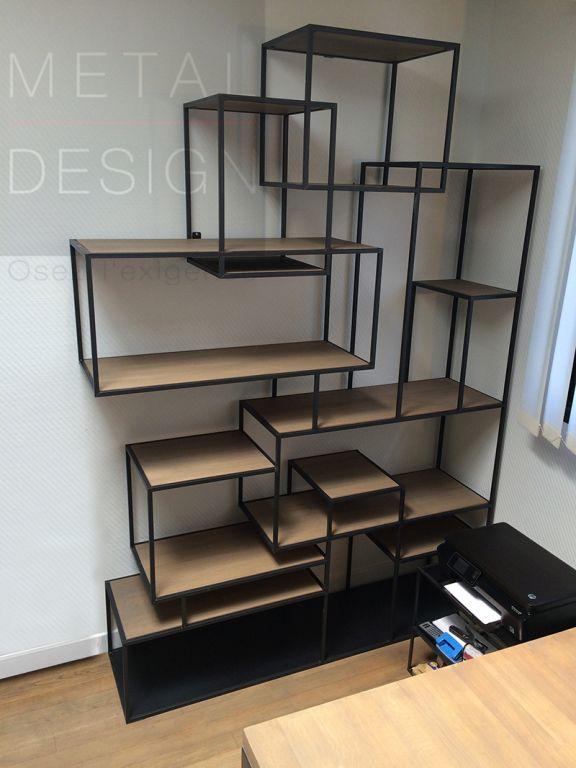 les 25 meilleures id es de la cat gorie biblioth que en m tal sur pinterest maison. Black Bedroom Furniture Sets. Home Design Ideas
