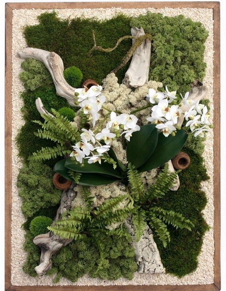 Les 25 meilleures id es de la cat gorie tableau vegetal sur pinterest cadre succulente Mousse vegetale deco idees