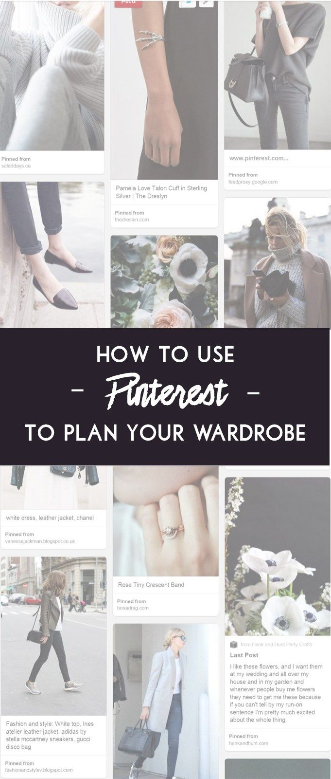 How to use Pinterest to plan your capsule wardrobe! Create a mood board as a visual representation of your style preferences & lifestyle needs. Click through for the step by step lesson!