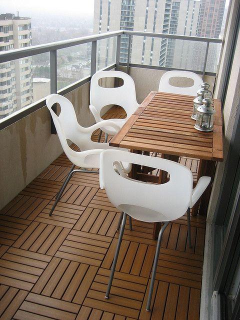 Our condo balcony patio setup by comicpie, via Flickr