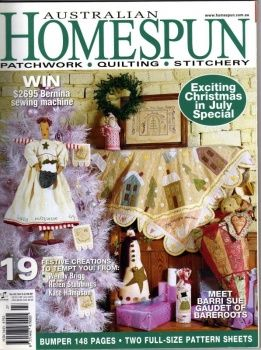 Australian Homespun. Christmas in July issue. Christmas decorations and crafts
