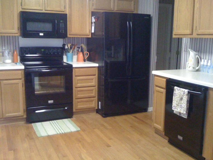 kitchens with black appliances photos - Bing Images
