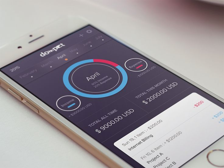 Dompet Wallet App by Bagus Fikri—The Best iPhone Device Mockups → store.ramotion.com