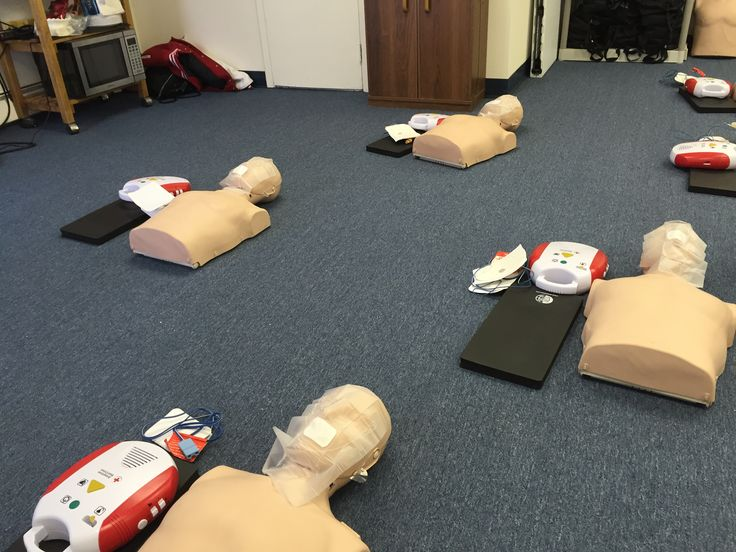 Manikins ready for CPR/AED Training