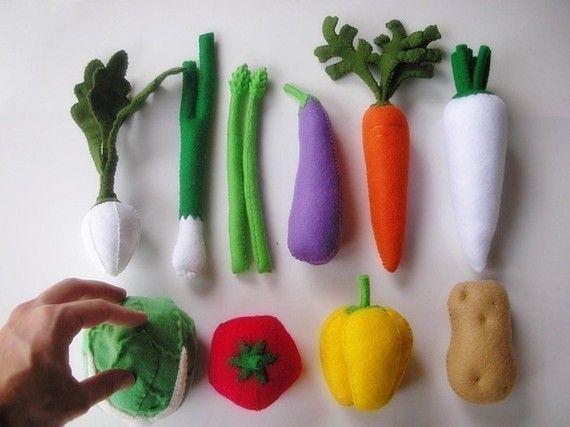 Lovely Gemüse-Set Filz Schnittmuster für 1-2 PDF zu von julyhobby