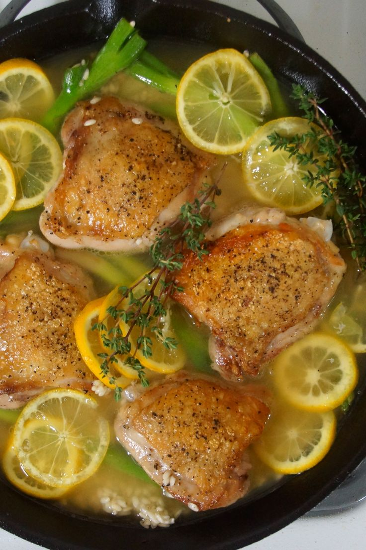 Baked Risotto with Chicken, Lemon & Scallions
