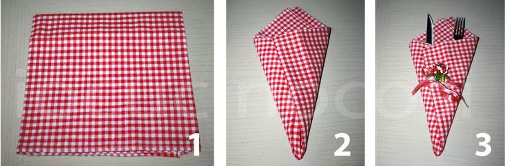 Come piegare i tovaglioli – Piega a cono | Decorare la tavola