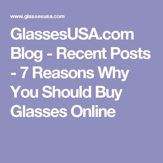 GlassesUSA.com Blog - Recent Posts - 7 Reasons Why You Should Buy Glasses Online