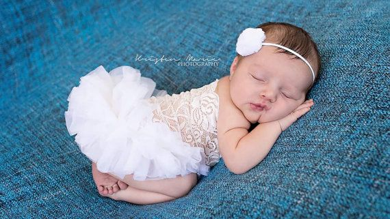 White Newborn Tutu Dress, Photography Props by The Damask Baby