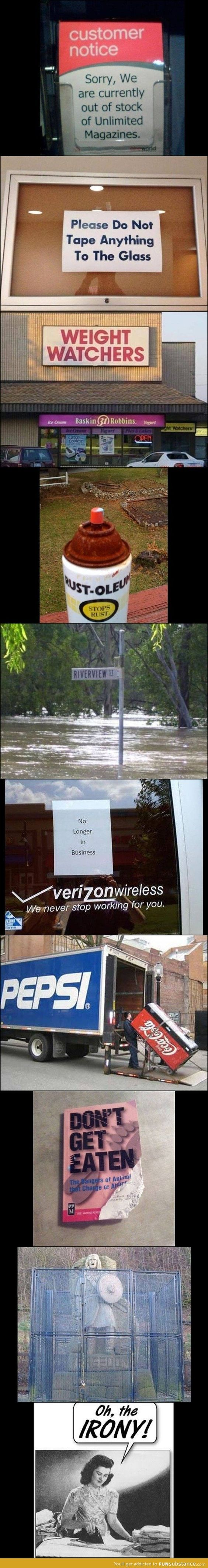 Ironic signs...
