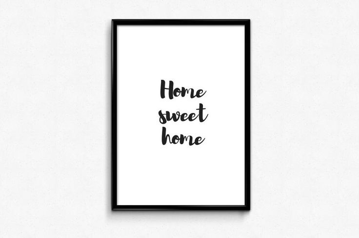 Plakat A3 Home sweet home - Posters-Monster - Wydruki cyfrowe