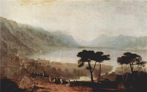 The Lake Geneva seen from Montreux  - William Turner