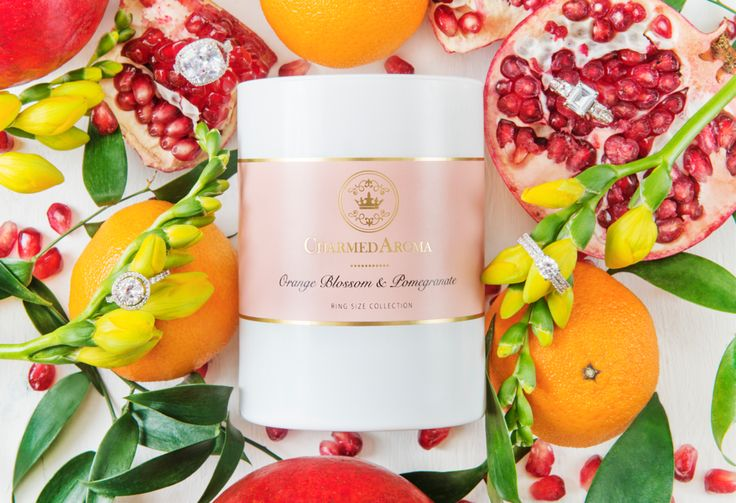 Sterling Ring Size Candle - ORANGE BLOSSOM & POMEGRANATE