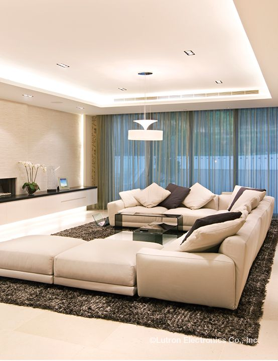 Modern Modern Living Room Lights. Luxury Modern Large Living Room With Ceiling Lighting Ideas  Interior Design 53 best images on Pinterest room modern