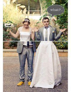 Pas besoin de la mer en toile de fond ni que le marié ait une détente olympique. Une mise en scène qui marche à tous les coups !