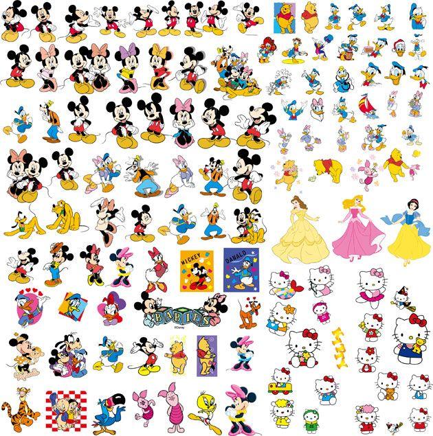 Vectores de Disney, Mickey, Minnie y otros + Tipografia | Puerto ...
