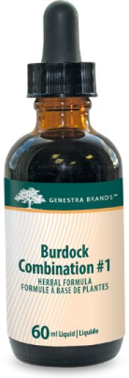 Burdock Combination # 1 by #Genestra  provides a combination of #Burdock and the synergistic #herbs Shepherd's purse, Prickly ash, American basswood, Fo-ti and Cayenne in a convenient liquid format.
