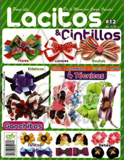Revista Lacitos y Cintillos gratis Magazine and online Bows Headbands