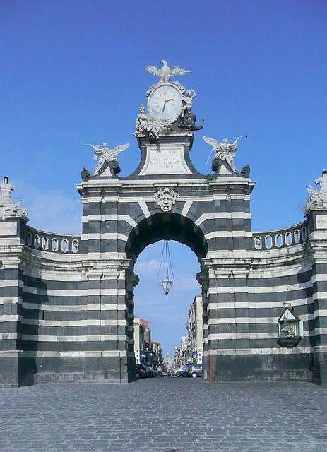 "Catania,Sicily---""porta Ferdinandea"" on top of Garibaldi Street"