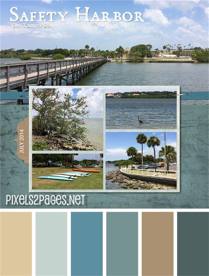 49 best pixels2Pages Color Palettes - Digital Scrapbook Layouts - fresh blueprint paper color