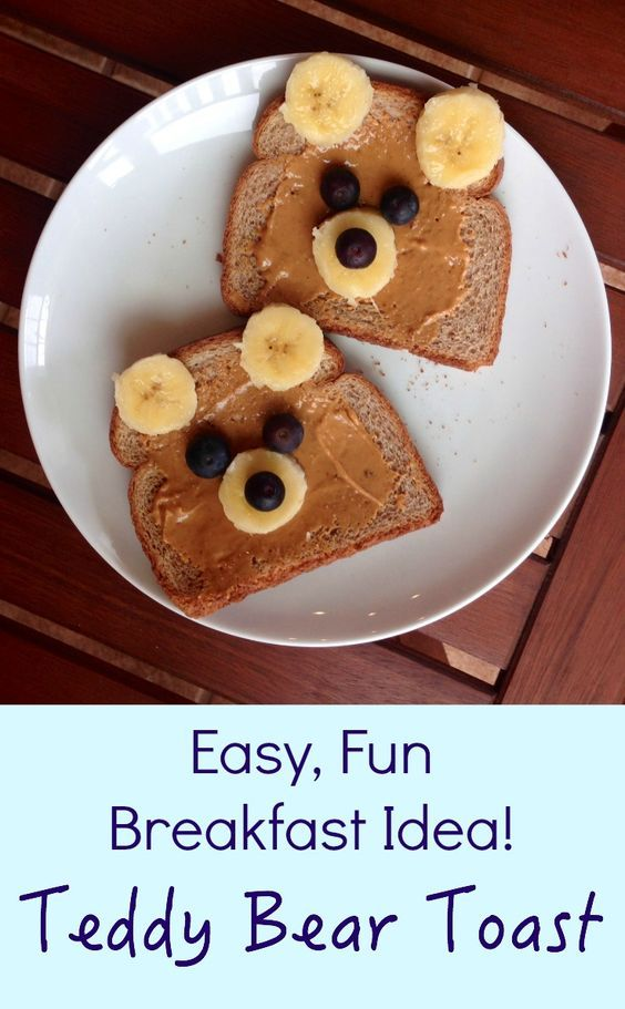 Get your kids giggling at breakfast with Teddy Bear Toast!