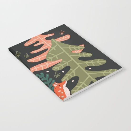 Evergreen Fox Tale Notebook