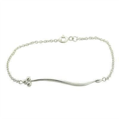 India bracelet in silver - Andrea Eserin - Unique contemporary jewellery