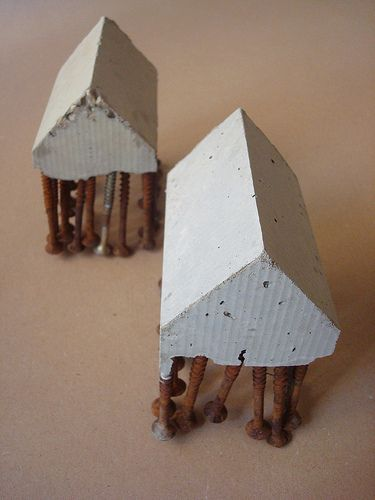 concrete and screws by Sharon Pazner