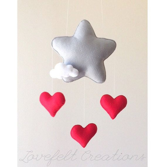 READY TO SHIP Baby mobile Star mobile Cloud par LoveFeltXoXo