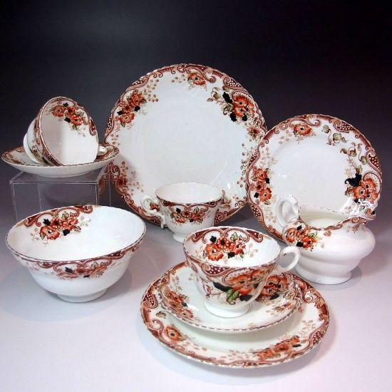 <<英国の隠れた名窯>>  『ラドフォードの伝統:褐色の華』 サミュエル・ラドフォードの6客ティーセットをご紹介しております。       ⇩ http://eikokuantiques.com/?pid=92145311