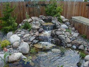 garden water feature rockery - Google Search