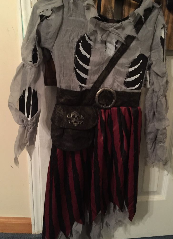 Girls Costume Pirate Size 5 6 Zombie Skeleton Renaissance Young Halloween | eBay