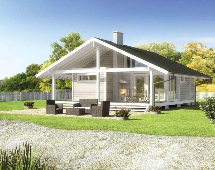147 best maisons images on Pinterest Euro, Flat roof and House - maison bois en kit toit plat