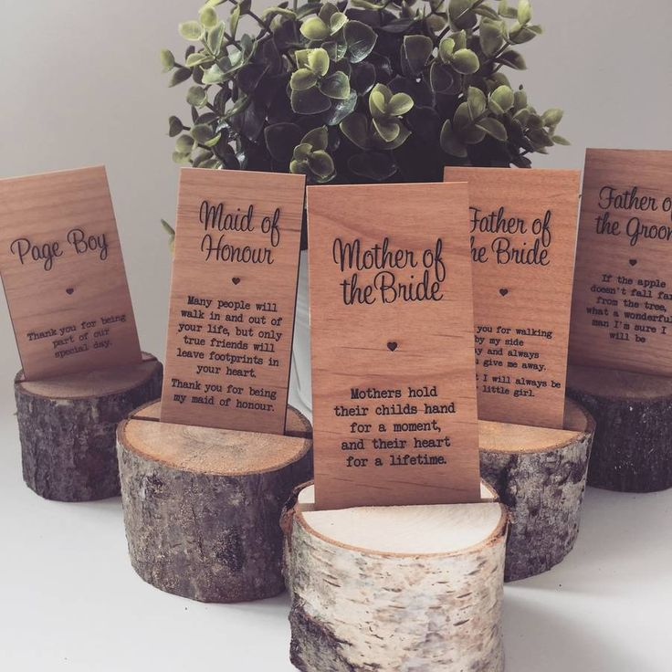 mother of the groom wooden place setting by batemandesigns | notonthehighstreet.com