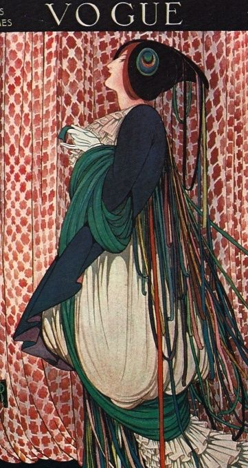 Art Deco - I just love this illustration - the hat... amazing. The fabric. Wow!