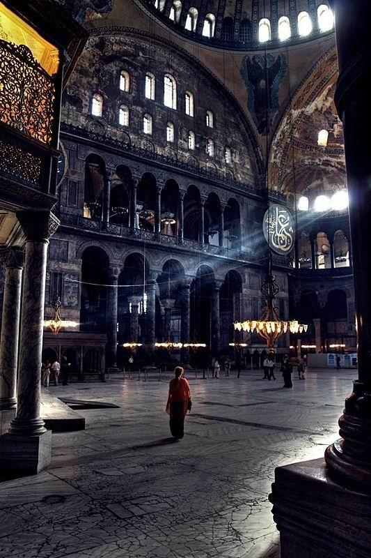 Interior, Hagia Sophia, Turkey