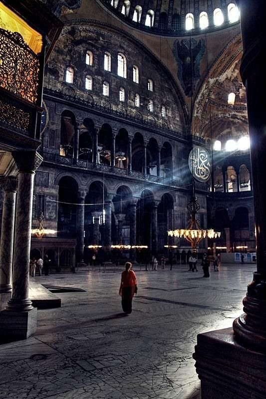 Interior, Hagia Sophia, Turkey