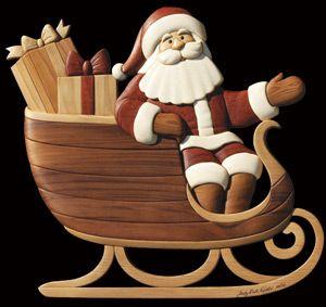 Santa und Schlitten Intarsien von Judy Gale Roberts