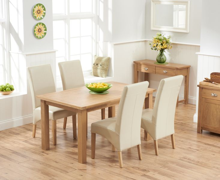 Somerset 150cm Oak Dining Table with Cannes Chairs