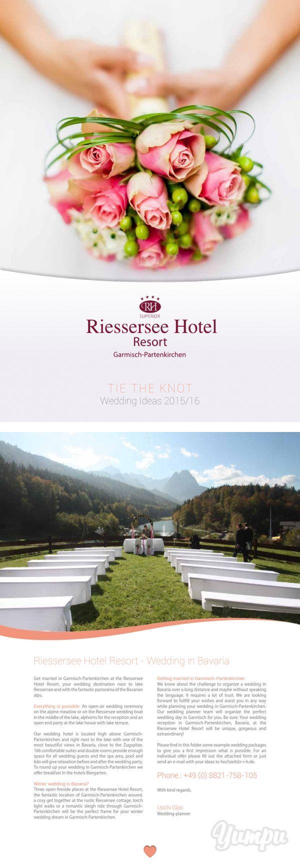 TIE THE KNOT - Magazine with 16 pages: Wedding in Bavaria, Garmisch-Partenkirchen, Riessersee Hotel Resort - Wedding ideas and packages