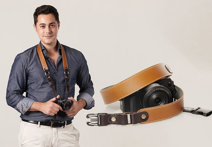 Hazel by #Redier - #HandCrafted, #GenuineLeather #CameraStrap for compact/mirrorless cameras.
