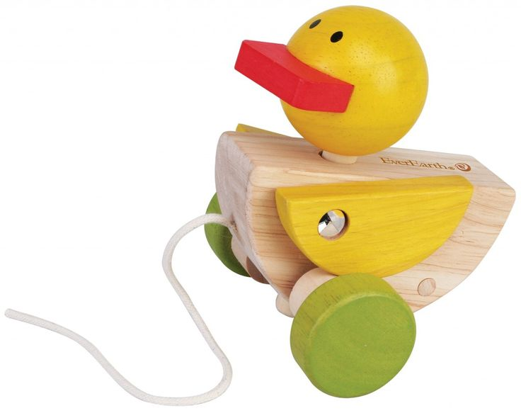 EverEarth Pull Along Duck Made from FSC certified sustainable wood. Assists with grasping and holding, hand-eye coordination and walking.