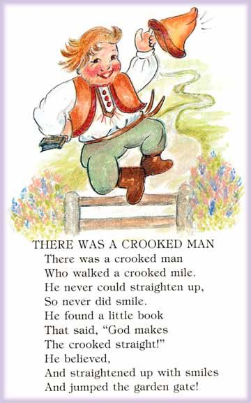 """"""" There Was A Crooked Man"""" - A Mother Goose Nursery Rhyme"""